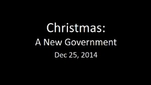 141225 - A New Government